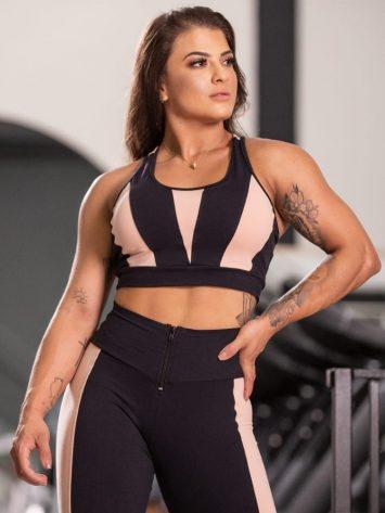 Oxyfit Activewear Sports Bra Top Montaria Shield – Black/Nude