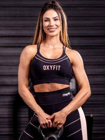 Oxyfit Sports Bra Top Trait – Black/Nude