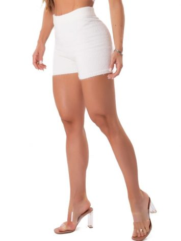 Let's Gym Fitness Trico Angora Shorts – Off-White