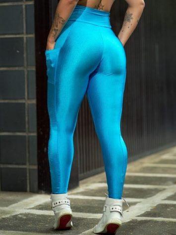 Dynamite Brazil High Waist Garasy Legging - Blue