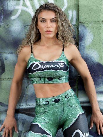Dynamite Brazil Placebo Larimar Sports Bra Top – Emerald