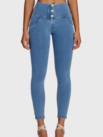 Freddy WR.UP® Denim – 3 Button 7/8 Length – High waist – St. Yellow – (Light Blue)