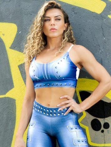 Dynamite Brazil Paint-it-black Sports Bra Top – Velvet Blue