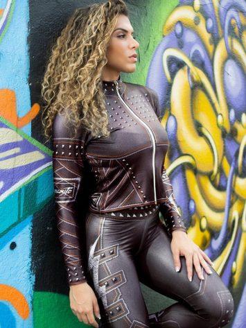 DYNAMITE BRAZIL Jacket – Paint-it-black – Black Lightning Bolt