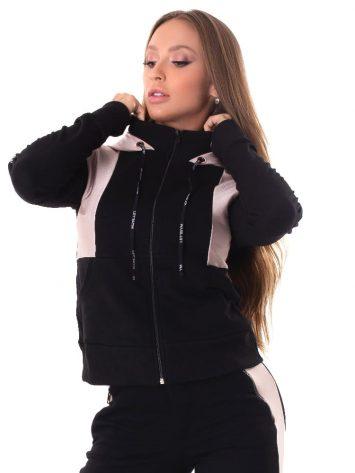 Let's Gym Fitness Up Jacket – Black/Rose