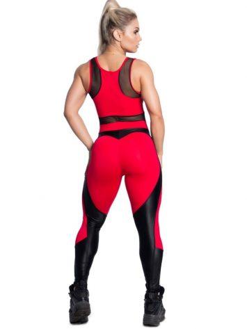 Trincks Fitness Activewear Sweet Red Jumpsuit – Red/Black