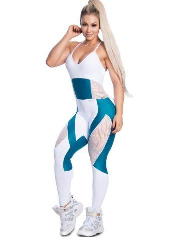 Trincks Fitness Activewear Fit Train Jumpsuit – Blue/White