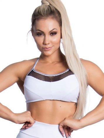 Trincks Fitness Activewear Street Sports Bra Top – white