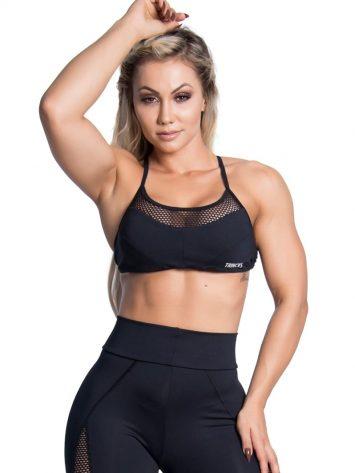 Trincks Fitness Activewear Street Sports Bra Top – Black