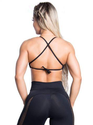 Trincks Fitness Activewear Street Sports Bra Top - Black