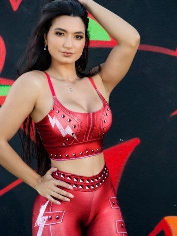 Dynamite Brazil Cinnamon Girl Sports Bra Top – Red
