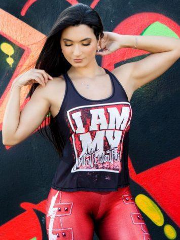 DYNAMITE BRAZIL Tank Top Motivation – Black/Red