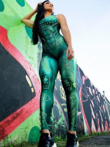 Dynamite Brazil Jumpsuit Macacao – Million Dollar Secret – Lime-Green