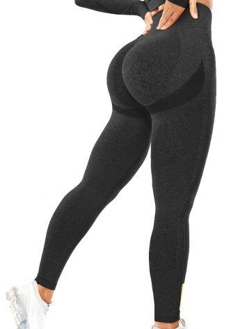 BFB Scrunchie Seamless High Waisted Leggings – Black