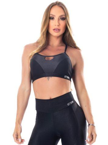 Lets Gym Fitness Lover Sports Bra Top – Black