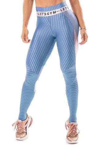 Let's Gym Fitness Winner Leggings – Blue