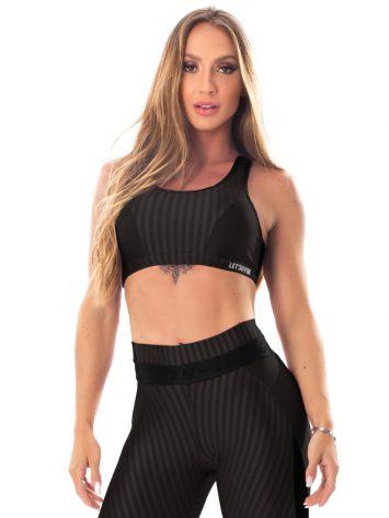 Lets Gym Fitness Winner Sports Bra Top – Black