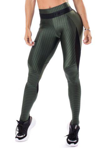 Let's Gym Fitness Winner Leggings – Military Green