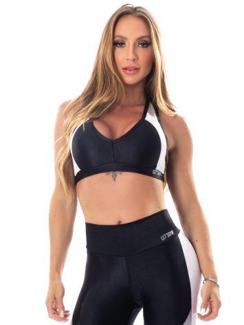 Lets Gym Fitness Glowing Secrets Sports Bra Top – Black