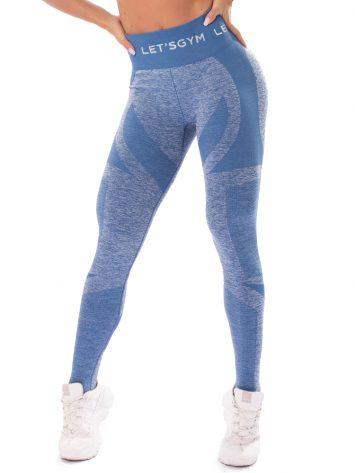 Let's Gym Fitness Seamless Diamond Leggings – Blue