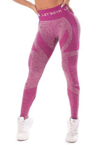 Let's Gym Fitness Seamless Diamond Leggings – Pink