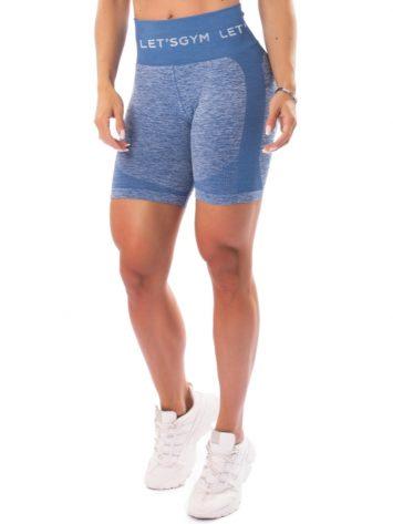 Let's Gym Fitness Seamless Diamond Shorts – Blue