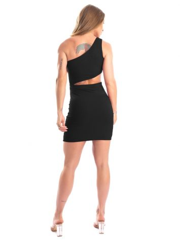 Let's Gym Fitness – Youth Ribbed Dress – Black