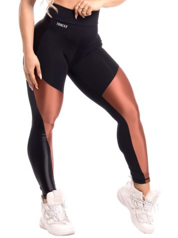 Trincks Fitness Activewear Shine Legging – Black/Gold