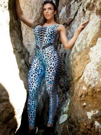 Dynamite Brazil Jumpsuit Jaguar – Blue