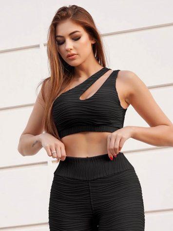 Lets Gym Fitness Magnetic Sports Bra Top – Black